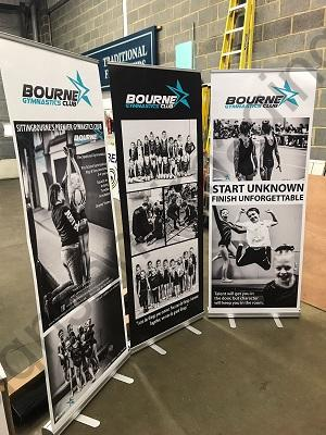 3 x roller banners