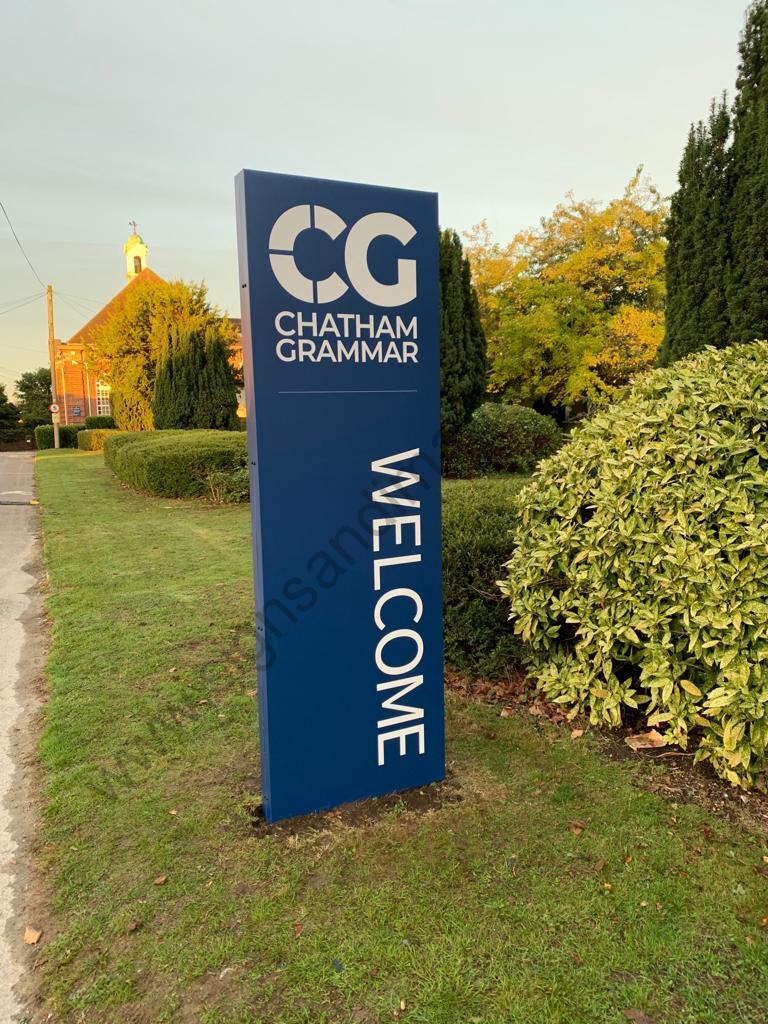 Chatham Grammar Girls signage-01