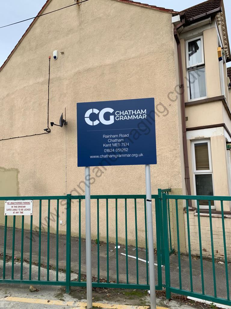 Chatham Grammar Girls signage-11