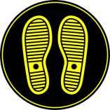 Footprints - Circle Floor Graphic