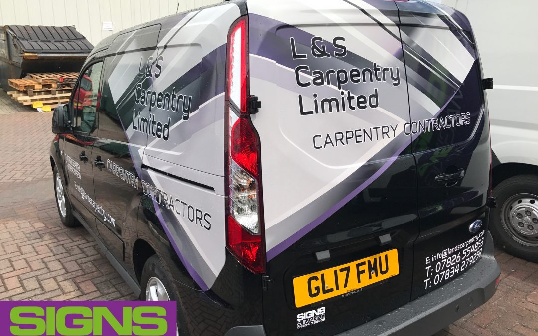 Expanding carpentry company choose us for van wrapping again in kent