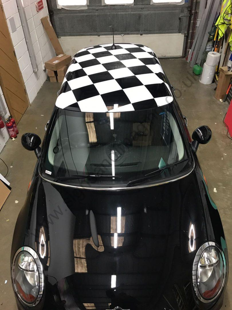 Mini Roof Wrap Takes The Chequered Flag Signs And