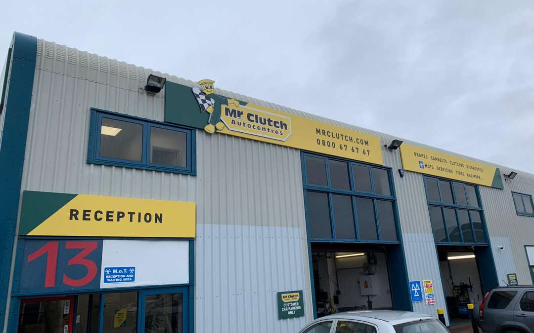 New Fascia Signage for Mr Clutch in Oxford !!
