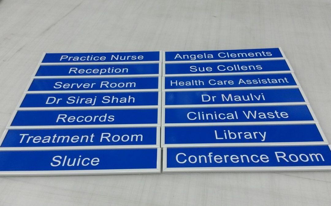 NHS Door Slat Signs