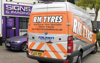 Mobile Tyre Van signs up with a new printed Wrap !!
