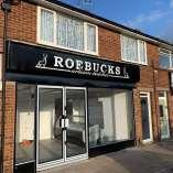 Roebucks Artisan Butchers Black ACM Sign Wigmore