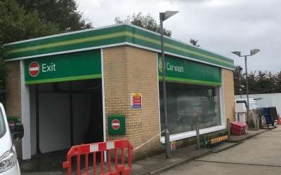 Service Station Retail Fascia Signs installed in Southampton