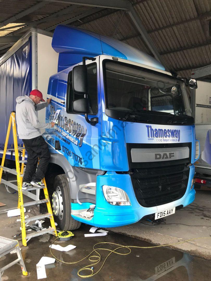 Thameside Transport Lorry Wrap Aug 18-01