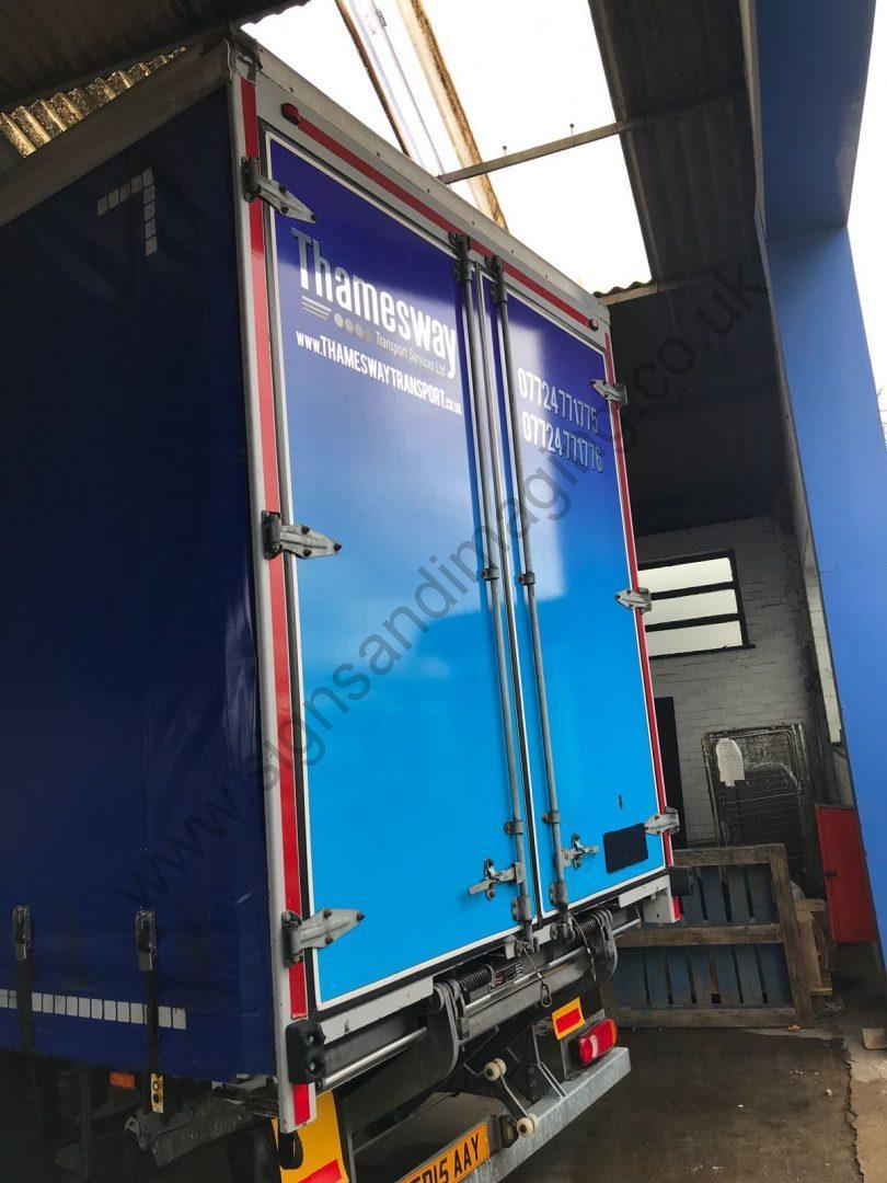 Thameside Transport Lorry Wrap Aug 18-06