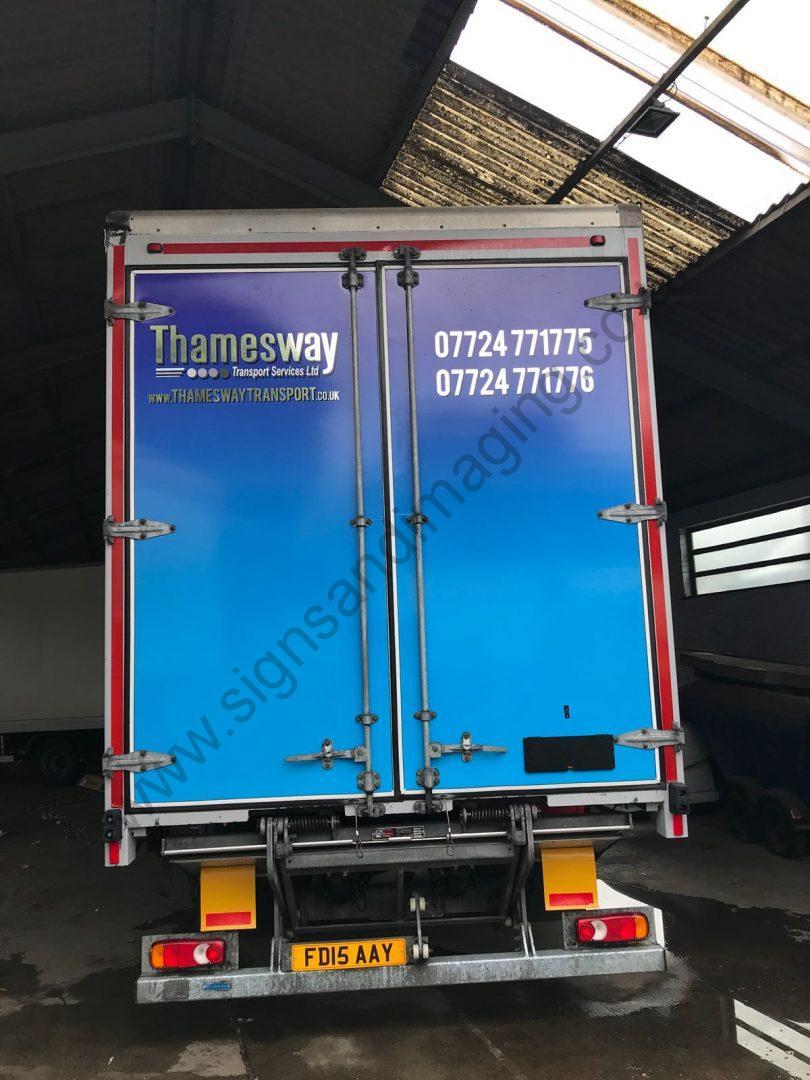 Thameside Transport Lorry Wrap Aug 18-07
