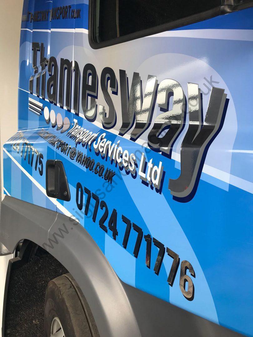 Thameside Transport Lorry Wrap Aug 18-15