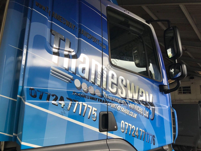 Thameside Transport Lorry Wrap Aug 18-16