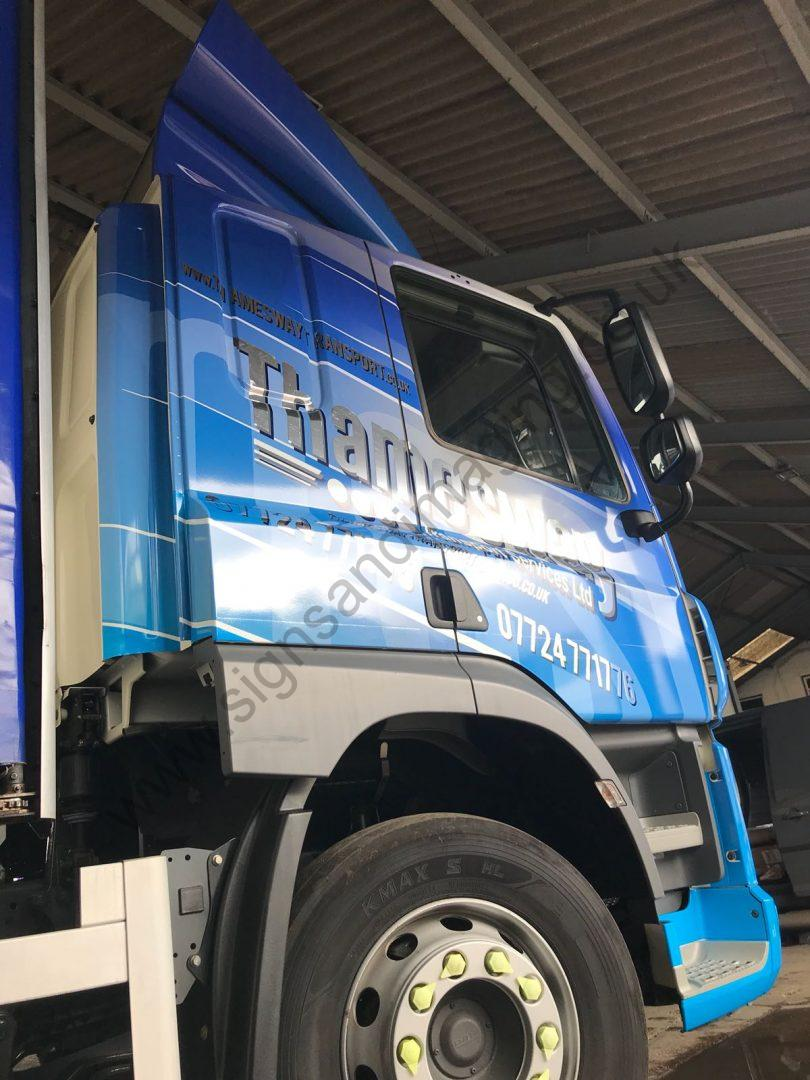 Thameside Transport Lorry Wrap Aug 18-19