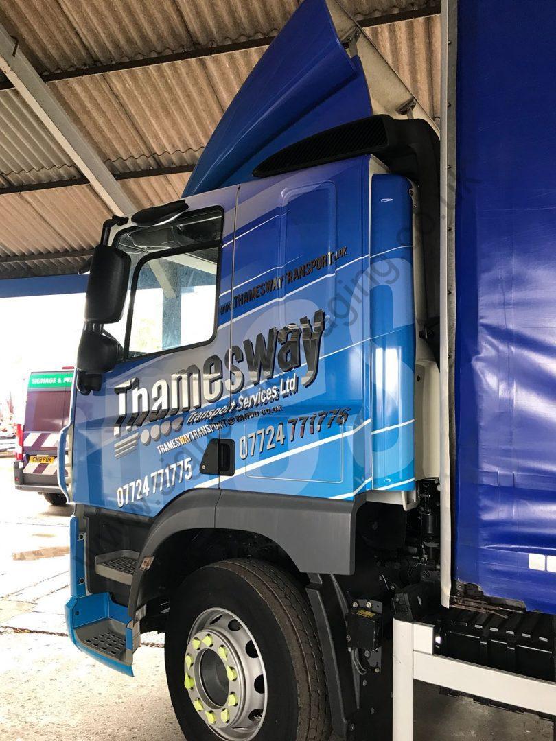 Thameside Transport Lorry Wrap Aug 18-22
