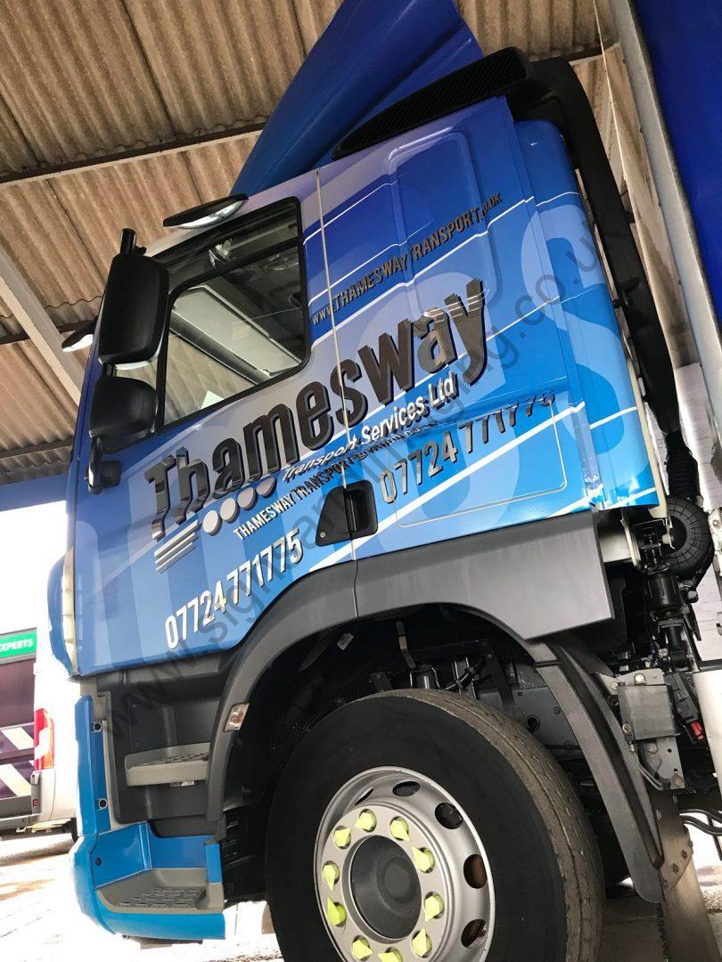 Thameside Transport Lorry Wrap Aug 18-25