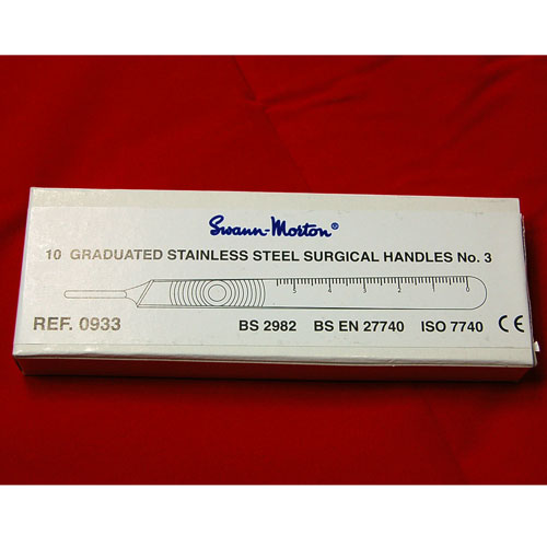 Swann Morton Stainless Steel No. 7 Handle (BOX OF 10)